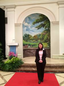 Photo taken at the Istana, before the ceremony.